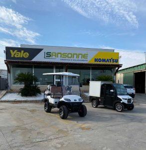 due veicoli per delivery e sale ricevimenti